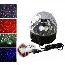 18W 6LEDs Color Crystal Ball Shaped Rotating Stage Light Black (US/EU Standard Plug)
