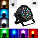 18W LED RGB Slim Par Light For Stage Light Party Black (US/EU Standard Plug)