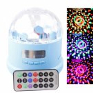 LT-MZWP3 RGB Light Rechargeable Remote Control Mini LED Stage Light with Card Slot Blue