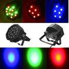 DMX-512 25W 18LEDs Stage Light 7CH 5 Modes Party Disco DJ Lighting Lamp(US/EU Standard Plug)