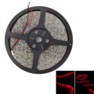 25W SMD3528 5m 300LEDs Red Light Epoxy Waterproof LED Light Strip (White Lamp Plate) (12V)