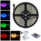 IP68 Waterproof 38W SMD5050 5m 150LEDs RGB Soft LED Light Strip with Remote Contro (DC 12V)