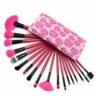 18pcs Professional Makeup Brush Set Rose