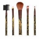 5pcs Professional Snake Grain Make-up Brushes Kit