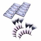 10 Pairs Handmade Feather Party Daily Makeup False Eyelashes Black and Pink