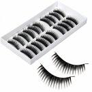 10 Pairs Professional Cosmetic Makeup Fake False Eyelashes Black 028#