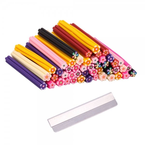 Nail Art FIMO Canes Rods + Blade #10