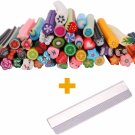 New Nail Art Fimo Canes Rods Blade + 50 X Fruit Cane