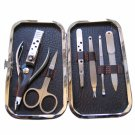 7PCS ES713-3 Metal Nail Trimming Manicure Tool Kit Cuticle Pusher Cutter Silver