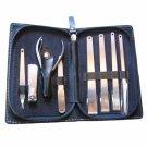 8 PCS Nail Care Nipper Clipper GS803-2 Manicure Tool Kit Silver