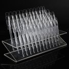 64pcs Nail Art Practice Display Stand Clear