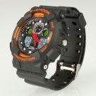 Men Women Waterproof Sport Wrist Watch Alike Multifunction Diving Watch Orange