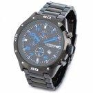 Hot Fashion Men CURREN Waterproof Stainless Steel Band Quartz Wrist Watch Blue Black