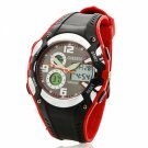 Sport Style Waterproof and Night Vision Quartz & Electronic Movement Plastic Watchcase Unisex Watch