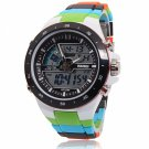 Men Sports Waterproof Fashion Casual Quartz Watch Digital Analog Wristwatches Green
