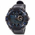 ALIKE Dual Display Multifunction Waterproof Electronic Outdoor Sports Male Men Wrist Watch Blue