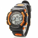 POPART Chic Waterproof Electron Movement Children Wrist Watch with LED Lamp/Night Vision Orange