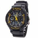SKMEI 0931 Quartz LED Dual Display Multifunction Personalized Waterproof Sports Male Watch Yellow
