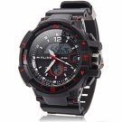 ALIKE Dual Display LED Digital Multifunction Waterproof Electronic Outdoor Sports Male Watch Red