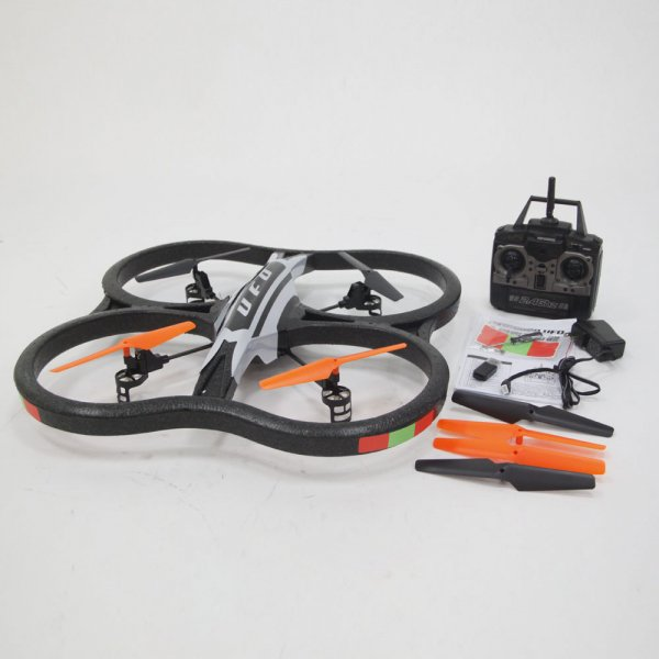 X30V 2.4GHz 6.5 Channel 6 Axis Gyro RC Quadcopter UFO with Camera Black
