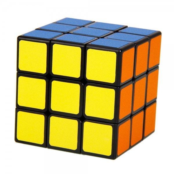 SHS 3x3x3 Cost-effective Square Rubik's Magic Cube Puzzle Toy Black