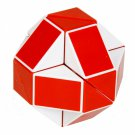 SHS Creative Changeable Rubik's Snake Magic Cube Puzzle Toy Red