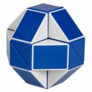 SHS Creative Changeable Rubik's Snake Magic Cube Puzzle Toy Blue