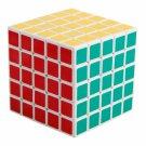 SHS 5x5x5 Professor's Cube Rubik's Magic Cube Puzzle Toy White