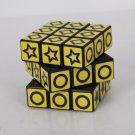 XWH 3x3x3 Geometry Pattern Brain Teaser Rubik's Cube Black