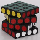 QJ 4x4x4 6.2cm Spring Rubik's Revenge Black with New stickers on the Surface