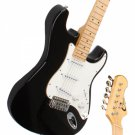 Maple Fingerboard Electric Guitar with Gig bag & Accessories Monochrome