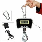 1100Lb/500Kg OCS-5 Mini Industrial Crane Digital Hanging Scale with Charger Silver + Black