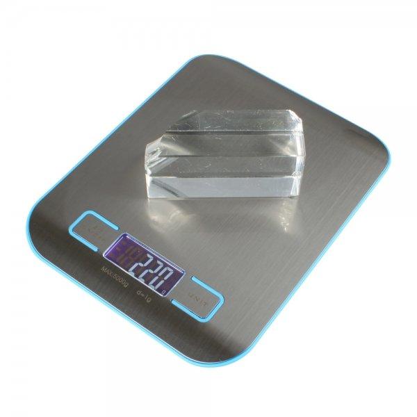 """5kg x 1g 1.7"""""""" Digital Weight Kitchen Food Diet Scale H318 Blue"""