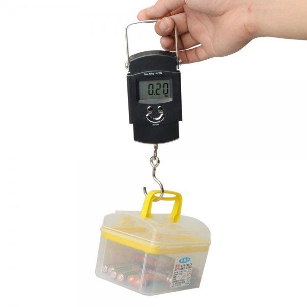 50kg /10g TM02Portable Hook Digtal Luggage Scale Black