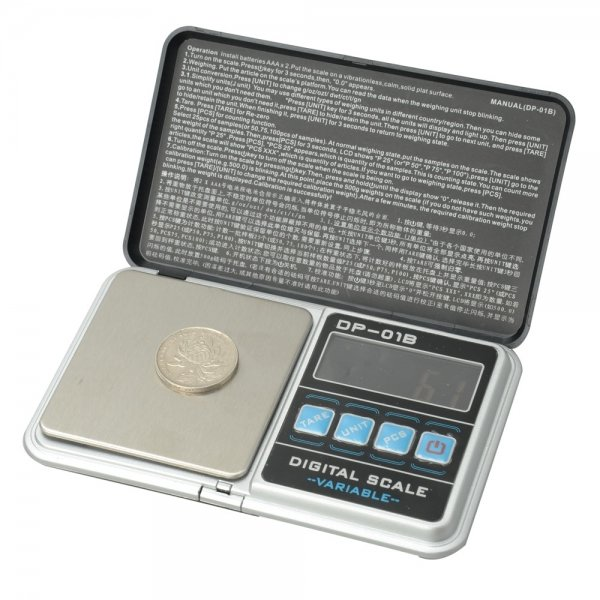 DP-01B 1000g 0.1g Jewelry Electronic Scale with Bag Black