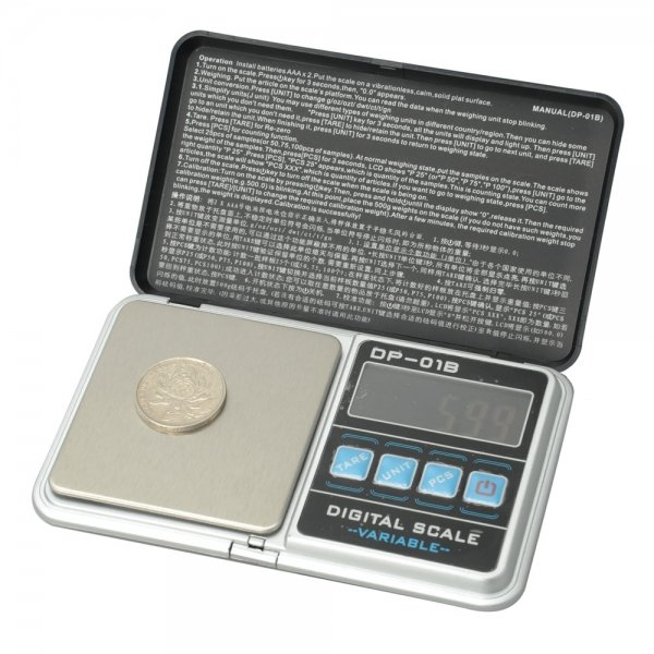 DP-01B 100g 0.01g Jewelry Electronic Scale with Bag Black
