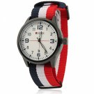 CURREN 8195 All-matching American Army Watch Men's Wrist Watch with 3-Color Braided Watchband