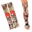 2pcs Temporary Arm Stockings Fake Tattoo Sleeves T12