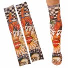 2pcs Temporary Arm Stockings Fake Tattoo Sleeves T9