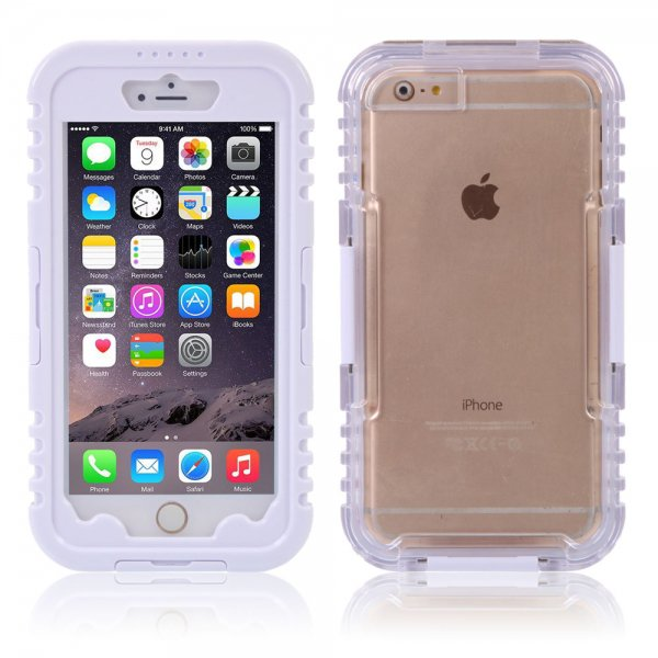 IP 68 Deep Waterproof Dust Shockproof Full Protect Case Cover for iPhone 6 Plus/6S Plus White