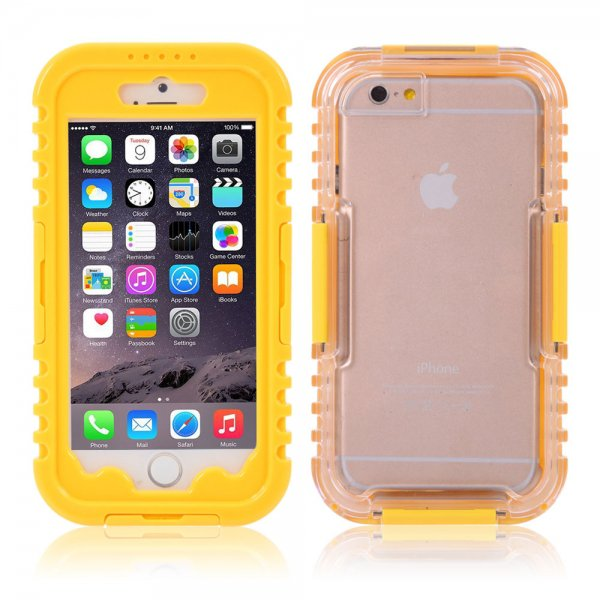 IP 68 Deep Waterproof Dust Shockproof Full Protect Case Cover for iPhone 6/6S Yellow