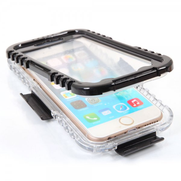 IP 68 Deep Waterproof Dust Shockproof Full Protect Case Cover for iPhone 6/6S Black