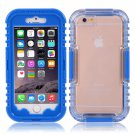 IP 68 Deep Waterproof Dust Shockproof Full Protect Case Cover for iPhone 6/6S Blue
