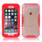 IP 68 Deep Waterproof Dust Shockproof Full Protect Case Cover for iPhone 6 Plus/6S Plus Red