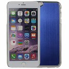 "Wire Drawing Titanium Alloy Back Protective Case for 5.5"""" iPhone 6 Plus/6S Plus Blue"