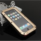 Waterproof Shockproof Aluminum Glass Metal Case Cover for iPhone 6 Plus/6S Plus Golden