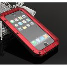 Waterproof Shockproof Aluminum Glass Metal Case Cover for iPhone 6 Plus/6S Plus Red