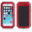 Waterproof Shockproof Aluminum Glass Metal Case Cover for iPhone 6/6S Red