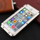 Waterproof Shockproof Aluminum Glass Metal Case Cover for iPhone 6/6S Silver