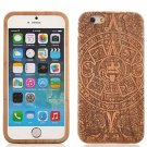 "Maya Totem Pattern Protective Wood Back Case Cover for 4.7"""" iPhone 6 Brown & Black"